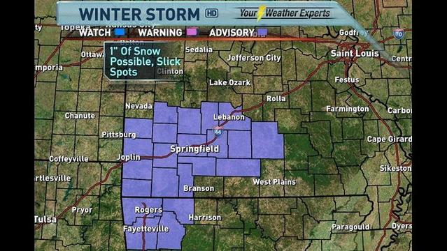 Winter Weather Advisories Linger Across Ozarks into Saturday
