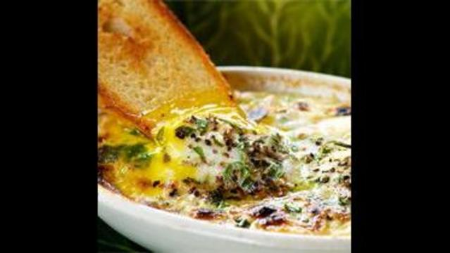 Baked Eggs with Rosemary, Garlic and Parmesan