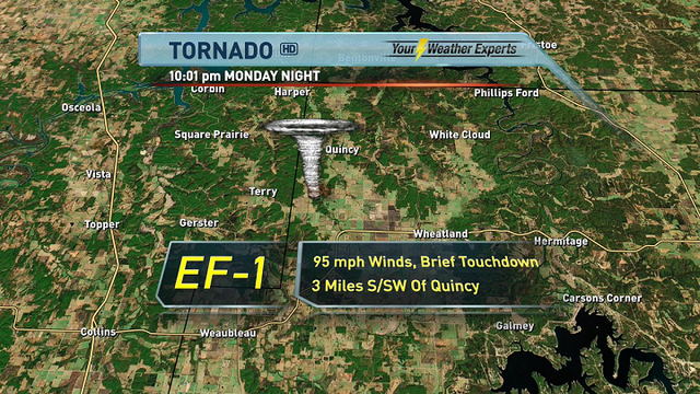 NWS Finds Tornado Damage in Hickory County