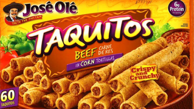 Company recalls more than 35000 pounds of frozen taquitos