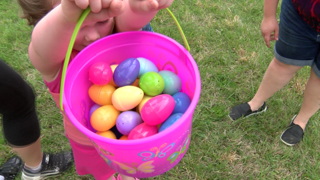 Dozens of kids participate in Easter egg hunt in Unicoi Co