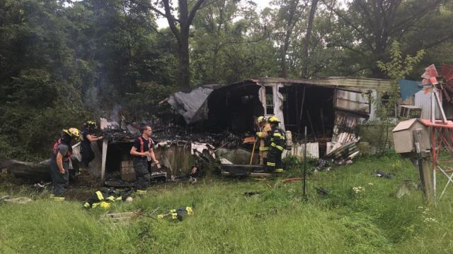 Mobile Home Destroyed by Fire in Phelps County