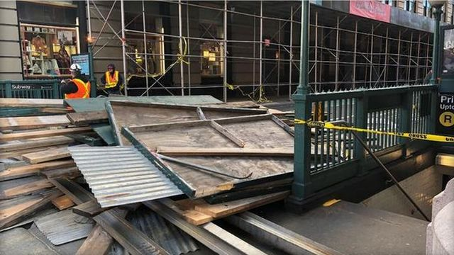 Injured After Scaffolding Collapses in Manhattan