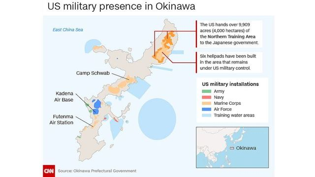 US Marine Arrested Following Fatal Okinawa Truck Crash - Us military bases in okinawa map