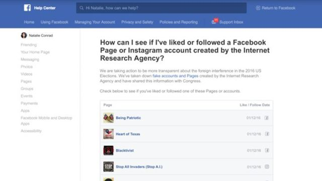 Facebook Tool Lets Users Check if They Liked Accounts Linked to Russia In 2016