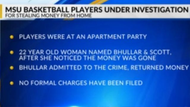 Two MSU Men's Basketball Players Suspended for Theft Investigation