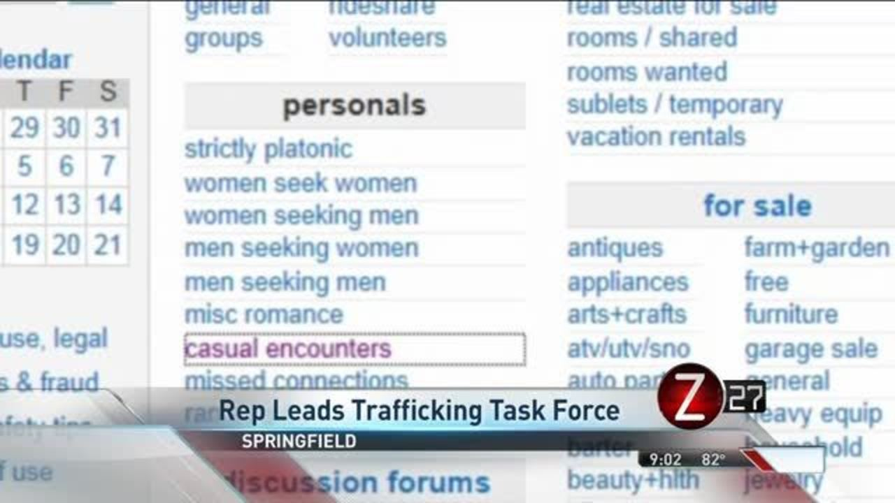 Springfield Area Lawmaker to Lead Human Trafficking Task Force