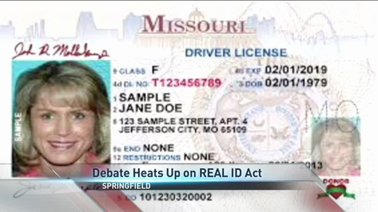 Act Real Id Missouri In Over Debate Continues