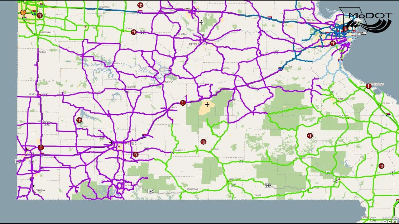 Modot Road Map Check Road Conditions with MoDOT's Traveler Map Modot Road Map