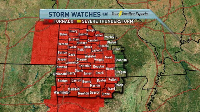 Tornado Watch Issued for the Ozarks