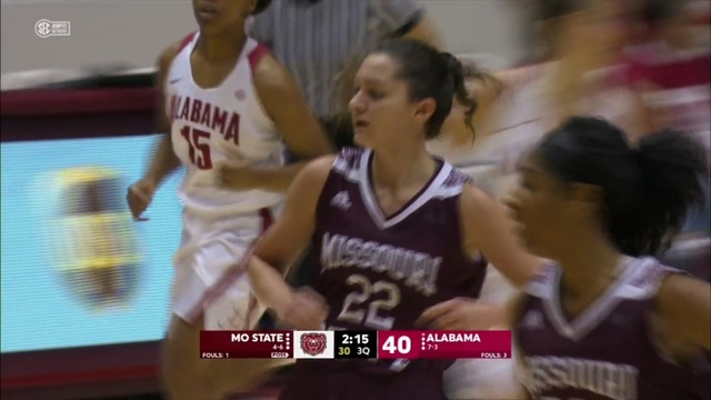 Bama Clips Lady Bears Late
