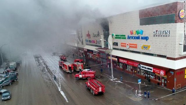 Fire in shopping mall in Siberia kills five and injures 32