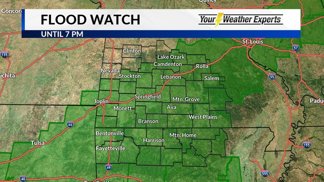 National Weather Service Issues Flood Watch from Monday Evening to Tuesday Evening