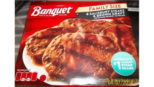 Banquet Salisbury Steaks recalled because of bone fragments