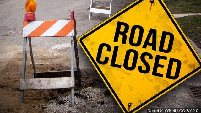 Intersection of Glenstone and Kearney Closing, Plan Alternate Routes