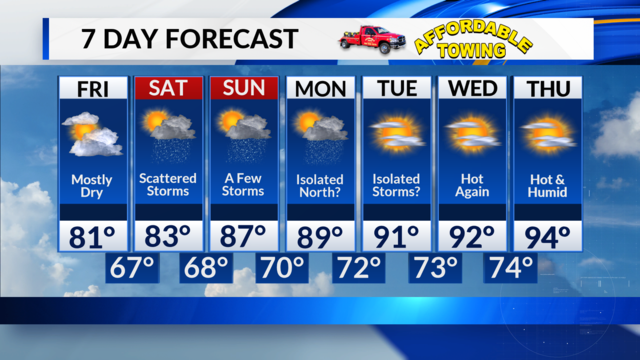 Friday, June 22 Midday Forecast