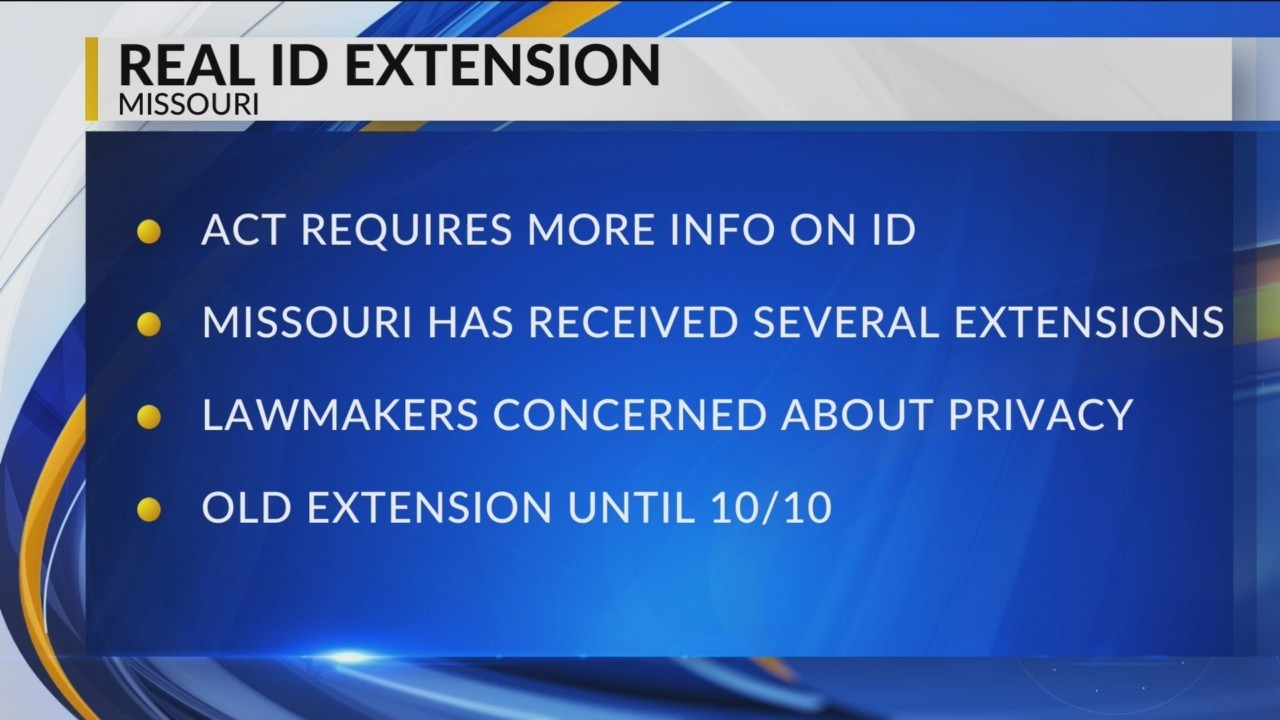 Missouri To Get Extension To Comply With Real Id Law