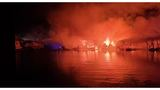Photos from last night's dock fire in Kimberling City