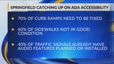 Springfield is looking to get better sidewalks and ramps for the disabled
